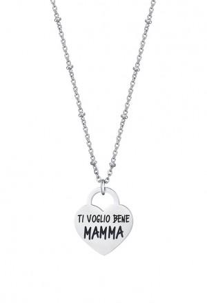 Collana Luca Barra Acciaio Cuore Ti Voglio Bene Mamma CK1480
