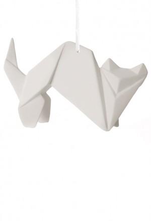 Origami Tridimensionale Gatto Porcellana Bianca L'Abitare Milano 16020051