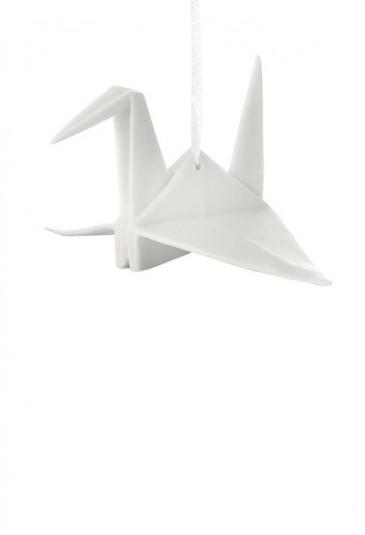 Origami Tridimensionale Cicogna Porcellana Bianca L'Abitare Milano 16020040