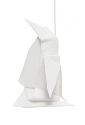 Origami Tridimensionale Pinguino Porcellana Bianca L'Abitare Milano 16020046