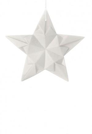 Origami Tridimensionale Stella Porcellana Bianca L'Abitare Milano 16020039