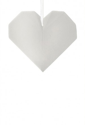 Origami Cuore Porcellana Bianca L'Abitare Milano 16020037