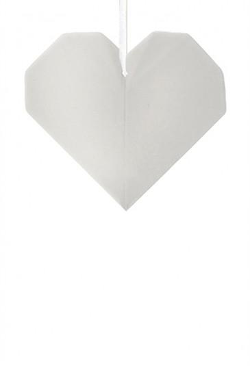 Origami Tridimensionale Cuore Porcellana Bianca L'Abitare Milano 16020037