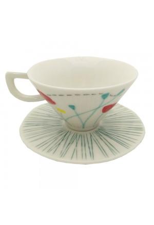 Tazza Caffe L'Abitare Seasons Mese Maggio Porcellana Handmade Decori Rilievo 16880031