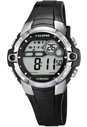 Orologio Calypso Digitale Cronografo Luminoso Nero Lucido 10ATM K5617/6
