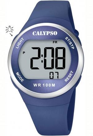 Orologio Calypso Digitale Luminoso Blu 10ATM K5786/3