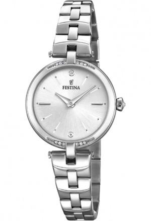 Orologio Festina Quadrante silver Acciaio Cristalli Index Donna Lady F20307/1