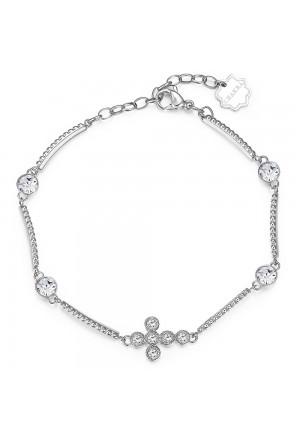 Bracciale Brosway Chakra Acciaio Croce Cristalli BHKB027