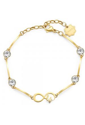 Bracciale Brosway Chakra Acciaio Gold Infinito Cristalli BHKB030