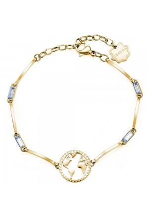 Bracciale Brosway Chakra Acciaio Gold Globo Cristalli BHKB018