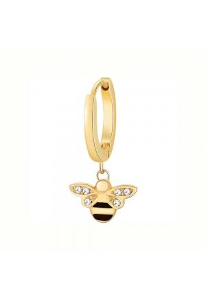 Orecchino Brosway Chakra Acciaio Gold Ape Cristallo BHKE024