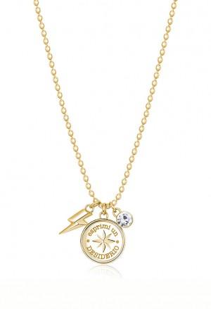 Collana Brosway Chakra Acciaio Gold Rosa Venti BHKL06