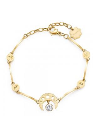 Bracciale Brosway Chakra Acciaio Gold Luna Crescente BHKB015