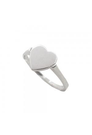 Anello Cuore Oro Bianco 18KT Misura 13 Love Fidanzamento Anniversario Fantasia Monile 8KMOIRP