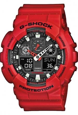 Casio G-Shock Anadigi Rosso Smeraldo GA-100B-4AER