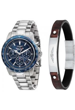 Orologio Bracciale Sector Uomo Acciaio Cronografo R3273993005