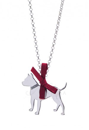 Collana Cane Pitbull Argento 925% Dog Happy Pets Unoaerre 73FDTFM