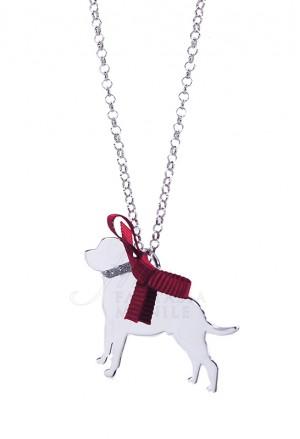 Collana Cane Rotweiler Argento 925% Dog Happy Pets Unoaerre ABQRYFM