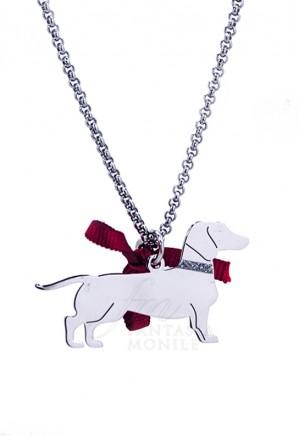 Collana Cane Bassotto Argento 925% Dog Happy Pet Unoaerre 8344