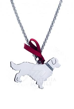 Collana Cane Golden Retriver Argento 925% Dog Happy Pet Unoaerre 8342