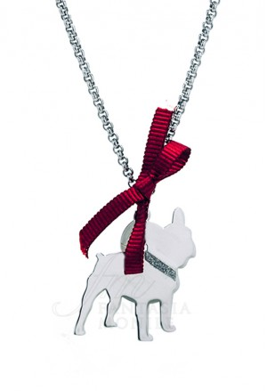 Collana Cane Bulldog Argento 925% Dog Happy Pets Unoaerre 8337