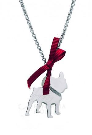 Collana Charm Cane Bulldog Argento 925% Dog Happy Pets Enpa Unoaerre 8337