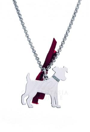 Collana Cane Jack Russel Argento 925% Dog Happy Pets Unoaerre 8339