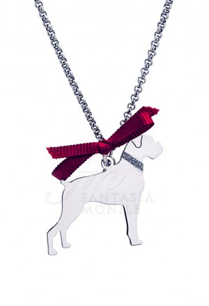 Collana Cane Boxer Argento 925% Dog Happy Pet Unoaerre 8348