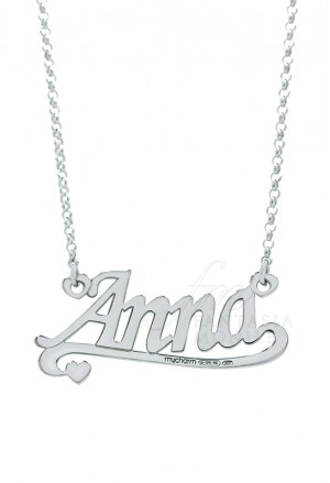 Collana Lady Argento Nome Anna Sottolineato My Charm AG3NB02A