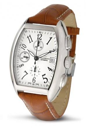 Orologio Philip Watch Tradition Panama Automatico Valjoux Datario Uomo Acciaio R8241985065