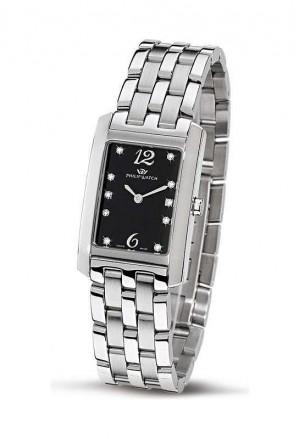 Orologio Philip Watch Tradition Tales Diamanti Donna Rettangolare Acciaio R8253422723