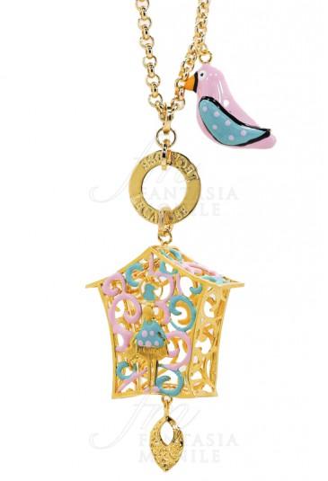 Collana Donna Le Carose Cucu Piro Piro Rosa Celeste Pink Mood JVDDOFM