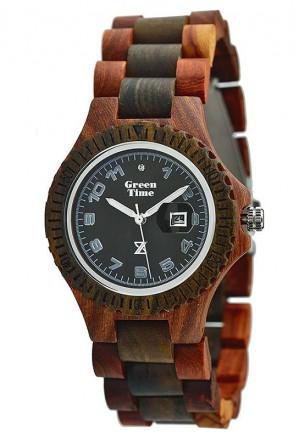 Orologio Green Time Donna Legno Sandalo Marrone Cristalli Wood ZW006C