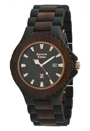 Orologio Uomo Legno Sandalo Rosso Marrone Wood Green Time ZW016B