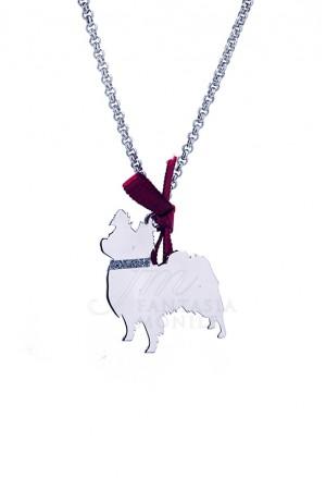 Collana Cane Volpino Argento 925% Dog Happy Pets Unoaerre 8349