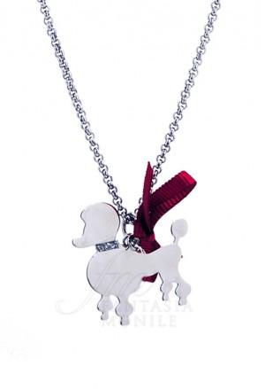 Collana Cane Barboncino Argento 925% Dog Happy Pet Unoaerre 8343