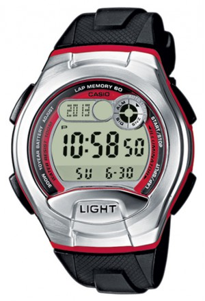 Orologio Uomo Cronometro Contapassi Casio W-752-4BVES