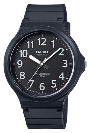 Orologio Uomo Quarzo Silicone Casio Collection MW-240-1BVDF