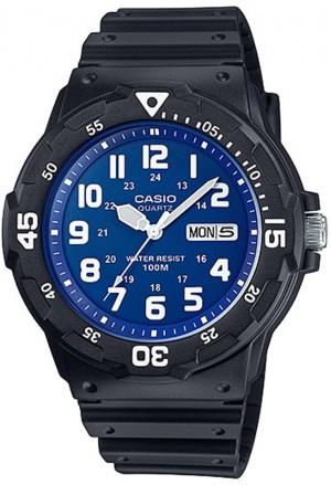 Orologio Uomo Silicone Aviator Quadrante Blu Casio MRW-200H-2B2VDF