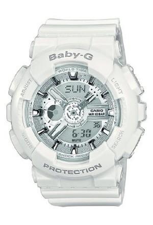 Orologio Unisex Bianco Baby-G Analogico Digitale Casio BA-110-7A3ER