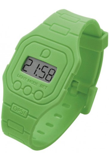 Orologio OPS! Flat Silicone Gomma Verde OPSFW-16