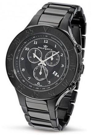 Orologio Philip Watch Trevi Cronografo Uomo Acciaio Pvd Nero Black R8273686025