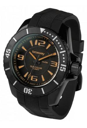 Orologio Uomo Sub Color Acciaio Silicone Nero Arancione Brosway WSB09