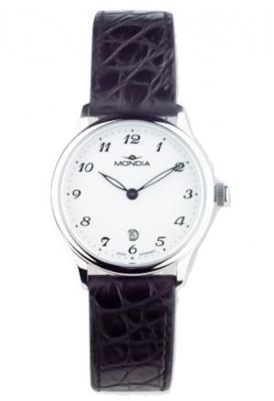 Orologio Donna Classico Acciaio Pelle Nera Mondia 1-644-1