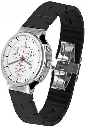 Orologio Uomo Chronografo Neos Acciaio Bianco Premio Design Award Lorenz 025721AA