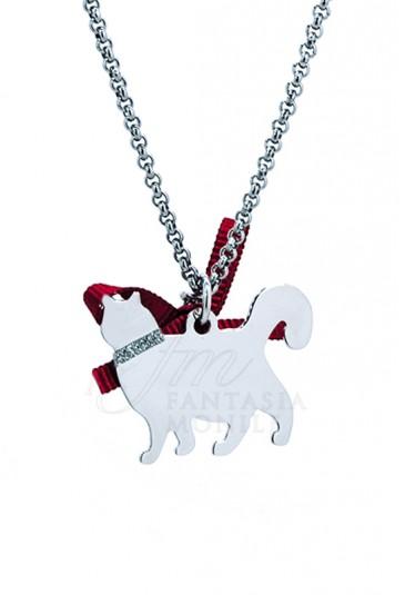 in vendita 771d0 88ad0 Collana gatto Charm gatto Enpa Happy pets Unoaerre Gatto Argento