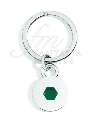 Portachiavi Argento Tools Green Incisione Recarlo K16PO036/AGR