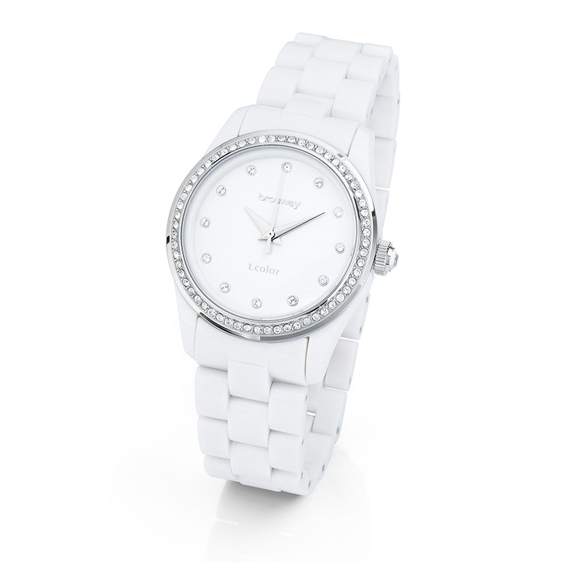 Orologio Donna T Color Regular Bianco Swarovski Brosway Wtc02