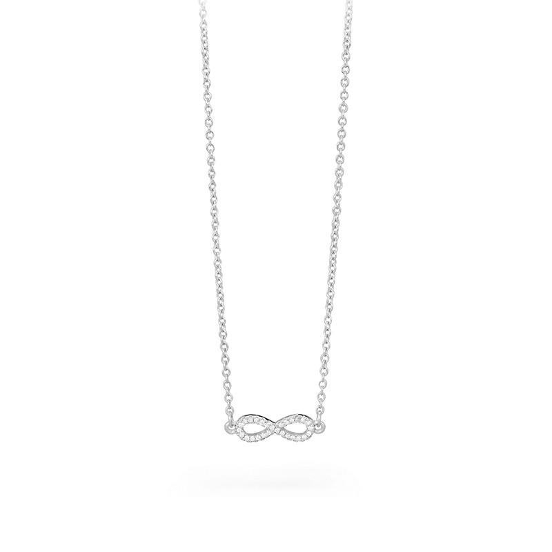 girocollo donna argento  Collana Swarovski Infinity Donna Icons Argento Infinito Brosway G9IS01