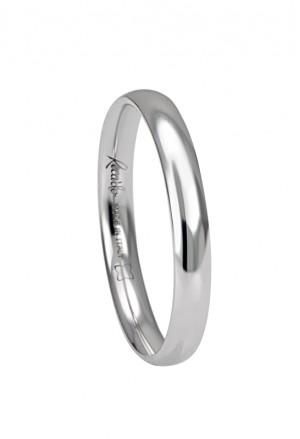 Fede Nuziale Recarlo Oro 18kt Bianco Matrimonio Wedding W14FS001/B